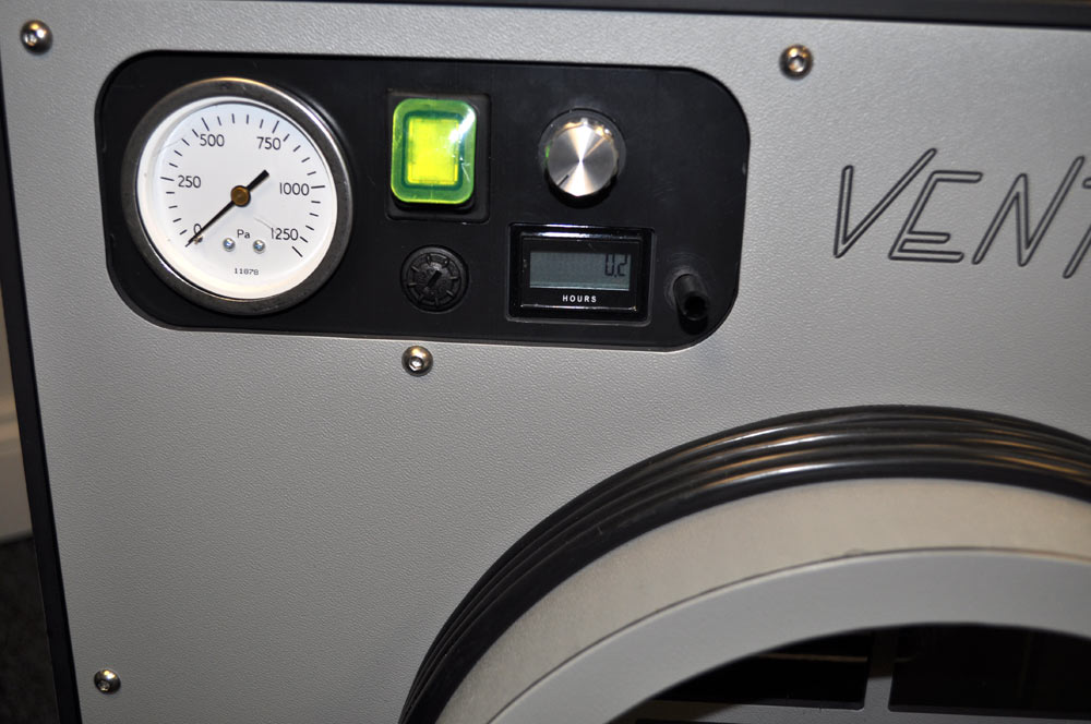 controlks of ventaire t25/50 negative pressure units