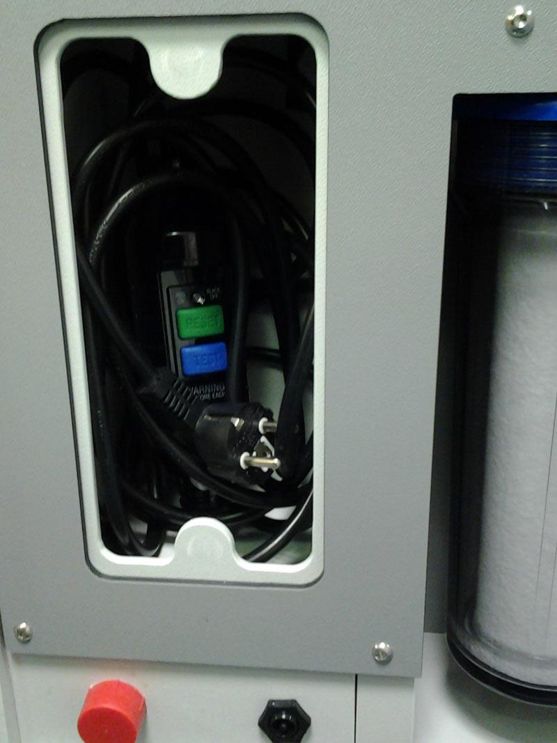 Aquarius 250 control panel